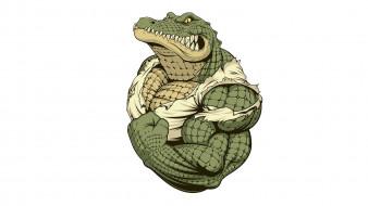 рисованное, животные,  крокодилы, бицепс, кожа, клики, крокодил, мускулы
