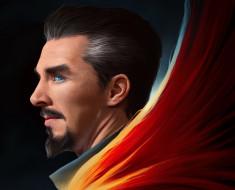 Доктор Стрэндж, Бенедикт Камбербэтч, рисунок, арт, Benedict Cumberbatch, Doctor Strange