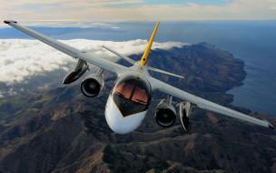 полет, пейзаж, кабина, самолет