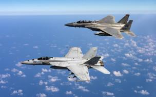 F-15D Eagle, FA-18E Super Hornet, истребители