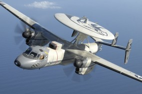 дальнего, радиолокационного, палубный, Grumman, обнаружения, Hawkeye, E-2C, самолёт