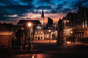 haarlem nights, города, - огни ночного города, простор