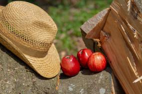 шляпа, яблоки
