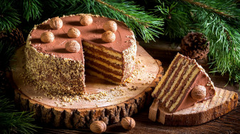 орехи, торт