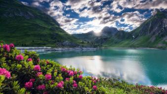 природа, пейзажи, озеро, горы