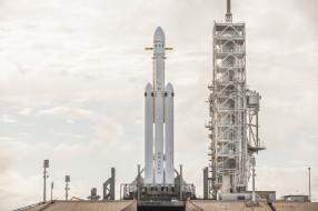 falcon heavy demo mission, космос, космодромы, стартовые площадки, старт