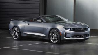 Camaro, RS, Convertible, Chevrolet, 2019, серебряный, металлик