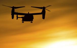 американский конвертоплан, bell boeing  v22 osprey tiltrotor, aircraft, тень