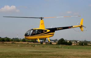 коммерческий, желтый, flight, yellow, easy, вертолет, multipurpose, r44, robinson, helicopter