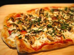 грибы, пицца, шампиньоны