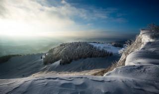 природа, зима, утро, холод