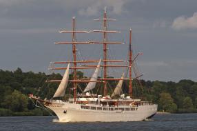 sea cloud ii, корабли, парусники, паруса, мачты