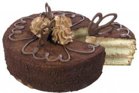 торт, украшения, кусок
