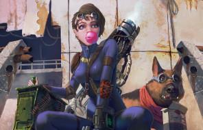 видео игры, fallout 4, оружие, собака, патроны, постапокалипсис, арт, девушка, fallout, 4