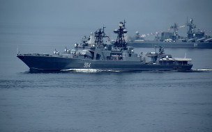 вмф россии, udaloy, проект 1155, тихоокеанский флот, большой противолодочный корабль, фрегат, адмирал трибуц