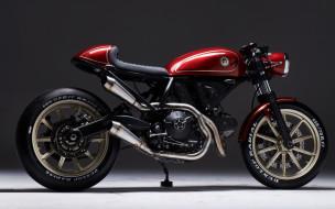 мотоцикл, custom bikes, 2018, esg rumble 400, тюнинг, RocketGarage, cafe racer