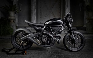 ducati scrambler, тюнинг, custom bikes, 2018, дукати, черный