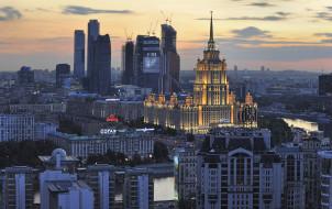 здания, панорама, река, Россия, Москва, Дорогомилово