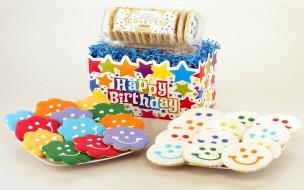 праздничные, день рождения, печенье