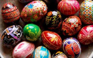 праздничные, пасха, яйца, писанки