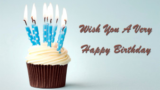 праздничные, день рождения, свечи, кекс, пожелание
