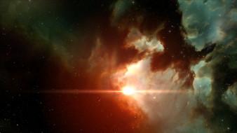 обои для рабочего стола 1920x1080 космос, галактики, туманности, свет, пространство, звезды