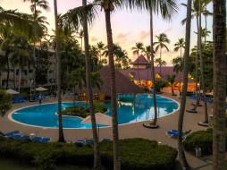 курорт, пальмы, бассейн
