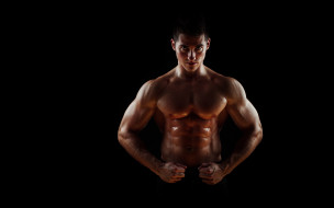 мужчины, - unsort, pose, sweat, abdominals, bodybuilder, penetrating, gaze, muscular, wide, pectorals