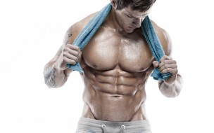 мужчины, - unsort, towel, workout, arms, abs, muscles