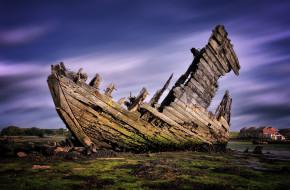 разное, развалины,  руины,  металлолом, остов, лодка, крушение, gosport, англия