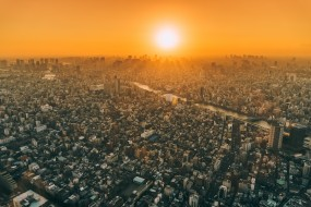 городской пейзаж, фотография, мегаполис, город с высоты