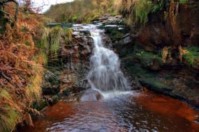 природа, водопады, потоки, водопад, вода
