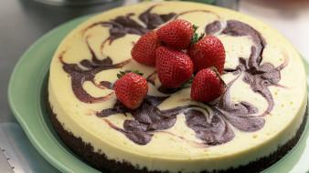 торт, клубника, еда
