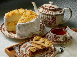 чай, еда, торт