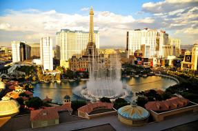 панорама, башня, фонтан