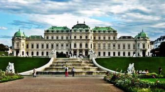 дворец, фонтан