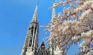 весна, собор, шпиль