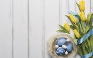 весна, wood, eggs, декор, лента, праздник, тюльпаны, Easter, Пасха, bouquet