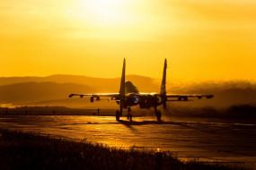 военная авиация, су27, аэродром, красота