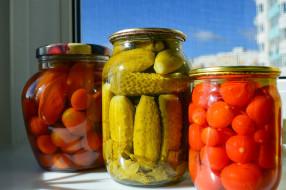 консервация, томаты, помидоры, огурцы, еда
