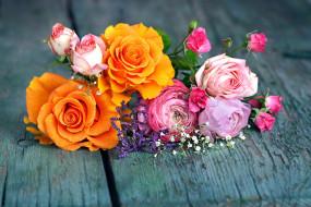 розы, ранункулюс