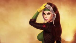 девушка, волосы, Anna Marie, грудь, X-Men, лицо, marvel comics, Rogue, красота