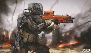 Future Soldier, солдат, оружие, Jude Smith