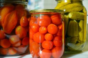 помидоры, консервация, огурцы, соленья, томаты, еда