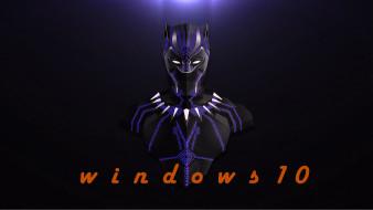 компьютеры, windows  10, фон, логотип