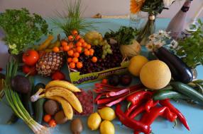 вишня, лук, бананы, лимон, малина, ананас, хурмаеда