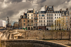город, париж, здание