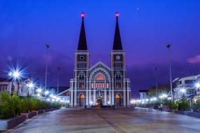 тайланд, чантабури, статуя святой марии, римская католическая церковь