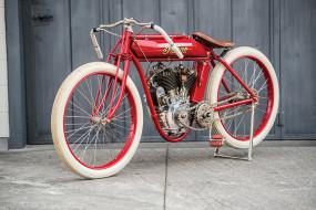 старинные обои картинки скачать на рабочий стол ПК, Ретро 1911-25 Indian Powerplus Board Track Racer Красный Мотоциклы фото Винтаж, планшета