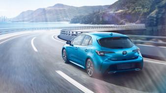 toyota corolla hatchback 2019, автомобили, toyota, blue, 2019, hatchback, corolla